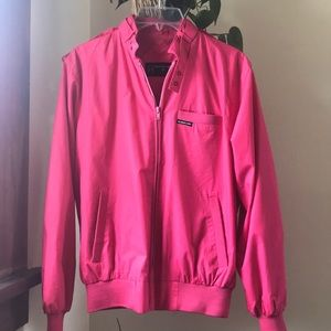 vintage MEMBERS ONLY racer  jacket in fuchsia